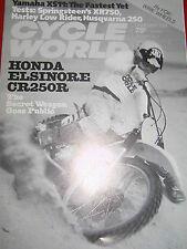 1978 Honda CR250 R Elsinore - CycleWorld Magazine/Honda - Literature