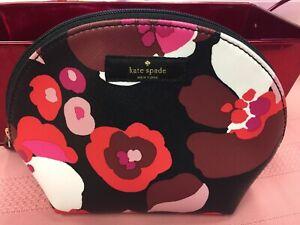 New KATE SPADE Flower COSMETIC MAKEUP BAG $60