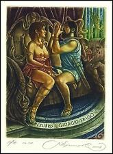 Kirnitskiy Sergey 2008 Exlibris C4 Mythology Odysseus and Circe Erotic Pig 160
