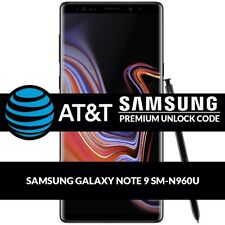 UNLOCK CODE SERVICE FOR AT&T SAMSUNG GALAXY NOTE 9 SM-N960U ALL OTHER MODELS