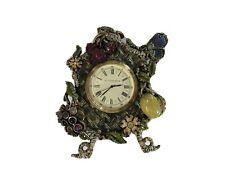 Jay Strongwater Cherry Flower Butterfly Nut Clock