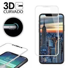 "PROTECTOR PANTALLA CRISTAL TEMPLADO PARA IPHONE X 5,8"" 3D CURVO  BLANCO"