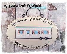 Grandma & grandads Caravan Where Memories Are Made Static Caravan Plaque Sign