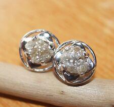 1.21 ct Natural LB Brown Diamond Raw Diamond Rough Diamond Earring 925 Silver NR