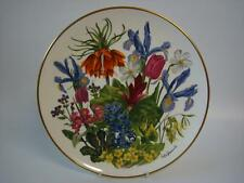FRANKLIN PORCELAIN RHS FLOWERS OF THE YEAR LARGE PLATE FLOWERS OF APRIL