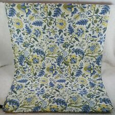 WAVERLY HOME POLYESTER TABLECLOTH YELLOW/ BLUE FLORAL 70X52 ~ B4