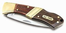 Schrade Old Timer Beaver Senior Large 29OT Folding Pocket Knife + Leather Pouch