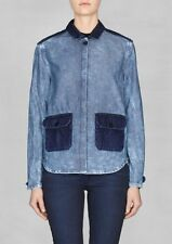 BNWT NEW & Other Stories shop Colorblock Denim Jean Jacket Coat Shirt Top Sz 36!