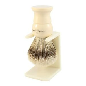 Edwin Jagger Imitation Ivory, Large, Synthetic Fill Shaving Brush (3EJ287LDS)