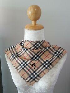 """BurberryUnisex Beige Signature Plaid Checks Cotton Square Handkerchief 18"""""""