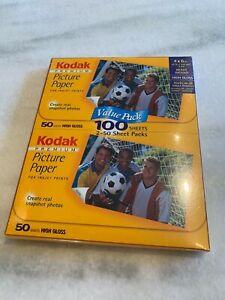 Kodak Premium Picture Paper High Gloss 100 Sheets All Ink Jet Printers~4x6