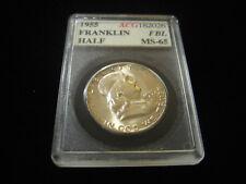 1955 FRANKLIN HALF DOLLAR - 90% Silver Uncirculated Toned