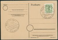 Alliierte Besetzung Postkarte mit Mi.-Nr.1AA SST Berlin NW7 19.-20.4.1946 KPD