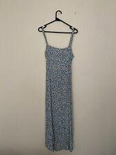 NEW Faithfull The Brand Blue Floral Maxi Dress, Size 10