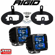 Rigid Radiance LED Fog Light Kit Blue Backlight for Toyota Tundra Tacoma 20201