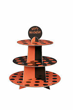 Halloween Cupcake Stand orange cardboard food serving stand 3 TIER Cake Stand