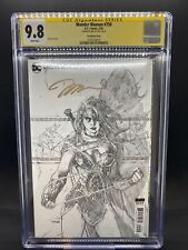 Wonder Woman #750 CGC SS 9.8 Signed!  1st Print 1:100 Jim Lee Sketch Variant