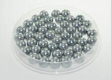 Lot 10 Perle imitation 10mm Gris perle de culture, creation Bijoux, Collier,