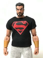 NOX-T-SUP: Superman Logo Shirt for Marvel Legends, Mezco Body (No Tracking)