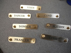 Brass Head Collar Name plate Equine Tack Tag 100mm x 20mm TT03