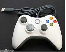 BRAND NEW WHITE WIRED CONTROLLER FOR MICROSOFT Xbox 360  PC LAPTOP UK SELLER