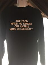 XL T-shirt Famous Daves Our Food Makes Us Famous Awards Make Us Legendary Long