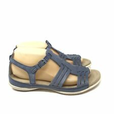 ECCO Womens Sandals Gladiator Blue Open Toe Size 39 8 8.5 Leather