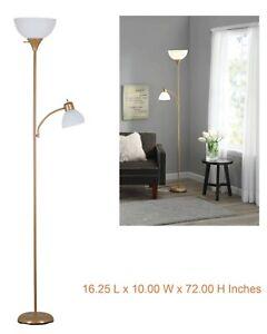 72 Inch Floor Lamp Reading Light Metal Uplight Stand Living Room Bedroom Gold