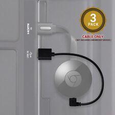 EXINOZ Cable Google Chromecast 2 (2015) 15CM Power from TV  Port 3 PACK