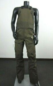 Mens North Face Fuse Brigandine Gore Tex Waterproof Shell Ski Bibs Pants - Olive