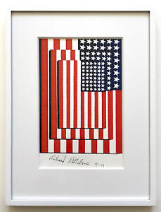 Richard Pettibone 2001 Appropriation Jasper Johns 3 Flags 1958 Unique Framed