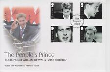 Unaddressed Isle of Man FDC First Day Cover 2003 Prince William 21st Birthday