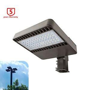 48W LED Parking Lot Light Outdoor Shoebox Pole Street Area Lighting Slip Fitter