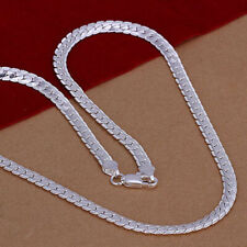 Women Men 925 Sterling Silver Plated 4MM Necklace Chain Jewellery 20""