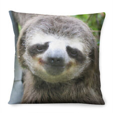 Sloth Face CUSHION Bedroom Kids Funny Joke Lazy Interior Decor Animal Cute Pet