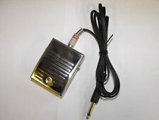 PROFESSIONAL heavy duty rca Stainless Steel Tattoo Foot Switch includes rca lead