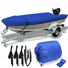 14-14.8 Trailerable Open Boat Cover 210d Trailers Fish Bass V-hull Waterproof