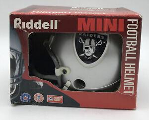 1996 Riddell Mini Football Helmet NFL Licensed LA Oakland Raiders NEW OLD STOCK