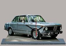 VOITURE , BMW 2002 tii grise -04  en HORLOGE MINIATURE