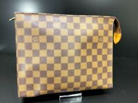 Louis Vuitton Damier Poche Toilette 25 Clutch Hand Bag N47543 LV 59214542 STICKY
