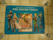 The Legend of Zelda Hyrule Warriors Nintendo Wii U Store Display Promo Poster