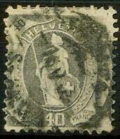 Suisse 1882 SG 209 Oblitéré 60%