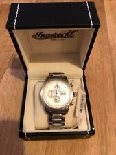 Ingersoll Mount Chronograph Bracelet Watch Day and Date Display INQ018WHSL