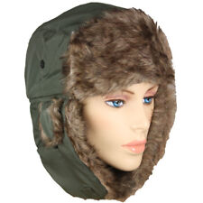 Winter HAT PLOT GREEN MEN WOMEN Trapper Aviator Fur Ski Warm Cap Flap VALENTINES