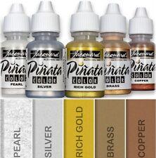5x Bottles Jacquard Pinata Alcohol Inks METALLIC COLOURS Glass Wood Paper Yupo +