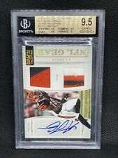 2011 A.J. Green National Treasures Rookie RC Two Patch Auto BGS 9.5 #22/25