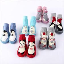 Babyschuhe Socke Erstlings Krabbelschuhe Gefüttert Kinder Anti-Rutsch Hausschuhe