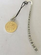 Aureus Of Tiberius Coin WC58 Gold Fine English Pewter On A PATTERN Bookmark
