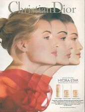 ▬► PUBLICITE ADVERTISING Hydratation peau CHRISTIAN DIOR Hydra star 1994
