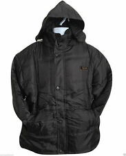 Unbranded Polyester Hooded Button Coats & Jackets for Men